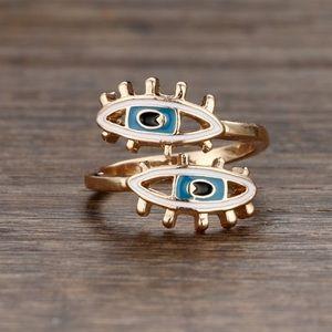Enamel eye ring